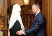 Поздравление Президента Республики Молдова И.Н. Додона Святейшему Патриарху Кириллу с праздником Пасхи