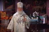 Телевизионное обращение Святейшего Патриарха Кирилла перед началом Пасхального богослужения в Храме Христа Спасителя