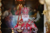 В праздник Светлого Христова Воскресения Предстоятель Русской Церкви возглавил торжественное богослужение в Храме Христа Спасителя