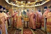 Глава Санкт-Петербургской митрополии совершил Литургию в храме при ПНИ № 10