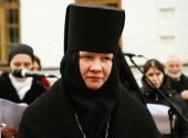 Патриаршее поздравление игумении Иулиании (Каледе) с 25-летием назначения на должность настоятельницы Зачатьевского ставропигиального монастыря
