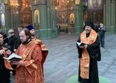 Епископ Клинский Стефан совершил благодарственный молебен по случаю завершения строительства главного храма Вооруженных сил России