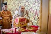 В Неделю о самаряныне глава Казахстанского митрополичьего округа совершил Литургию в Софийском соборе Алма-Аты