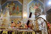В праздник великомученицы Ирины глава Казахстанского митрополичьего округа совершил Литургию в Иверско-Серафимовском монастыре Алма-Аты