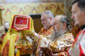 В день памяти святителя Николая Чудотворца глава Казахстанского митрополичьего округа совершил Литургию в Софийском соборе Алма-Аты