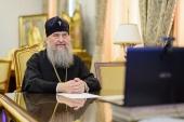 Митрополит Астанайский Александр провел в режиме видеоконференции совещание с архипастырями Казахстанского митрополичьего округа