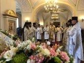 В день обретения мощей прп. Арсения Коневского в островной обители состоялось праздничное богослужение