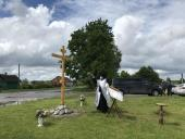 В Брянской епархии установлены поклонные кресты на месте двух разрушенных храмов