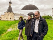 Председатель Финансово-хозяйственного управления ознакомился с ходом реставрационных работ на объектах Кирилло-Белозерского монастыря