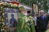 В день памяти преподобной Евфросинии Полоцкой Патриарший экзарх всея Беларуси совершил Литургию в Спасо-Евфросиниевском монастыре Полоцка
