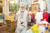 В Троицкую родительскую субботу Патриарший экзарх всея Беларуси совершил Литургию в Свято-Духовом кафедральном соборе города Минска