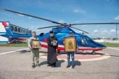 Воздушный крестный ход состоялся над населенными пунктами Салаватской епархии