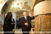Президент Белоруссии посетил Спасо-Евфросиниевский монастырь в Полоцке