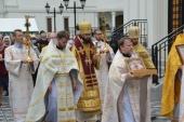 Πατριαρχικός Έξαρχος της Δυτικής Ευρώπης προεξήρχε της πανηγύρεως του Ιερού Ναού των Αγίων Πάντων Στρασβούργου