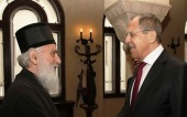 Head of Russian Ministry of Foreign Affairs meets with Primate of Serbian Orthodox Church