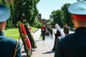 В годовщину начала Великой Отечественной войны Предстоятель Русской Церкви возложил венок к могиле Неизвестного солдата у Кремлевской стены