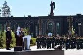 В День памяти и скорби Президент России В.В. Путин и Святейший Патриарх Кирилл посетили главный храм Вооруженных сил РФ и музейный комплекс «Дорога памяти»
