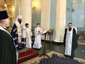 Митрополит Волоколамский Иларион совершил панихиду по старейшему сотруднику ОВЦС А.С. Буевскому