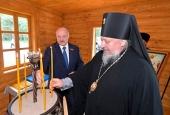 Архиепископ Гомельский Стефан посетил церемонию открытия мемориального комплекса «Ола»