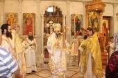 Parishioners of the Russian Orthodox Church representation in Beirut attend festive Divine Liturgy in the city of Zahle