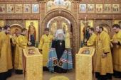 Митрополит Крутицкий Ювеналий возглавил торжества по случаю престольного праздника храма святителя Василия, епископа Рязанского, в подмосковном селе Протекино