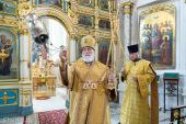 В день памяти Собора Белорусских святых Патриарший экзарх всея Беларуси совершил Литургию в Свято-Духовом кафедральном соборе Минска