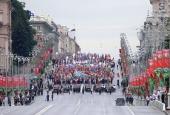 Патриарший экзарх всея Беларуси принял участие в патриотическом шествии «Беларусь помнит!»