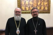 Primate of Orthodox Church of Antioch meets with representative of Patriarch of Moscow and All Russia to Patriarchal See of Antioch