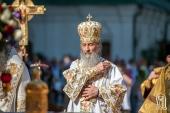 Блаженнейший митрополит Онуфрий совершил Литургию в Киево-Печерской лавре в день памяти апостолов Петра и Павла