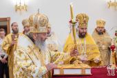 Блаженнейший митрополит Онуфрий возглавил престольные торжества в киевском храме в честь Собора славных и всехвальных 12-ти апостолов