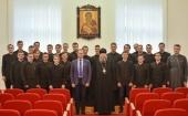Учащимся Минской духовной семинарии представили нового исполняющего обязанности ректора
