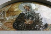 Вандалы забросали камнями икону блаженной Ксении на храме в Киеве