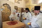 Патриарший наместник Московской епархии освятил Покровский храм в подмосковном селе Осеченки