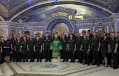 Военные связисты в день памяти своего небесного покровителя приняли участие в богослужении в Главном храме Вооруженных сил РФ