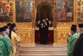 Rector of Russian Orthodox Church metochion in Beirut takes part in Divine Liturgy at the Cathedral of St. George