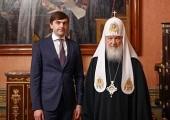 Состоялась встреча Святейшего Патриарха Кирилла с министром просвещения РФ С.С. Кравцовым