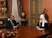 Состоялась встреча Святейшего Патриарха Кирилла с министром науки и высшего образования РФ В.Н. Фальковым