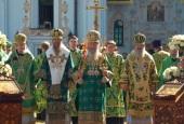 Блаженнейший митрополит Киевский Онуфрий возглавил праздничные богослужения в день памяти преподобного Антония Печерского
