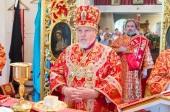 Митрополит Рижский Александр совершил Литургию в храме равноапостольного великого князя Владимира в поселке Дубулты города Юрмалы
