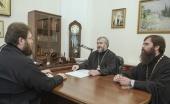 Председатель Финансово-хозяйственного управления и правящий архиерей Шахтинской епархии обсудили строительство храма в городе Шахты