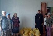 Продуктовая помощь передана 100 семьям в Братской епархии