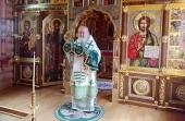 В день памяти преподобного Серафима Саровского Святейший Патриарх Кирилл совершил Литургию в Александро-Невском скиту