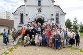 В день памяти преподобномученика Афанасия Брестского Патриарший экзарх всея Беларуси совершил Литургию в Афанасиевском храме города Минска