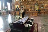 Глава Казахстанского митрополичьего округа совершил литию при погребении насельницы Иверско-Серафимовской обители Алма-Аты схимонахини Евдокии (Лащилиной)