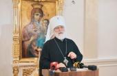 Состоялась пресс-конференция Патриаршего экзарха всея Беларуси