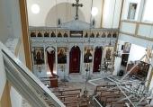 Прихожане русского подворья в Бейруте помогают разбирать завалы после взрыва