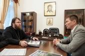 Председатель Финансово-хозяйственного управления встретился с директором реставрационной фирмы «Равелин»
