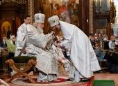В праздник Преображения Господня Святейший Патриарх Кирилл совершил Литургию в Храме Христа Спасителя и возглавил хиротонию архимандрита Иосифа (Королева) во епископа Тарусского