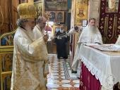 Клирики Русской духовной миссии в Иерусалиме в праздник Преображения Господня сослужили Блаженнейшему Патриарху Иерусалимскому Феофилу за Литургией в монастыре на горе Фавор