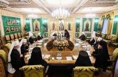 Святейший Патриарх Кирилл возглавил заседание Священного Синода Русской Православной Церкви